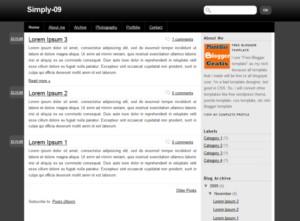 Plantilla Simply-09 gratis para blogger