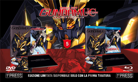 gundam unicorn 5 dvd blu-ray