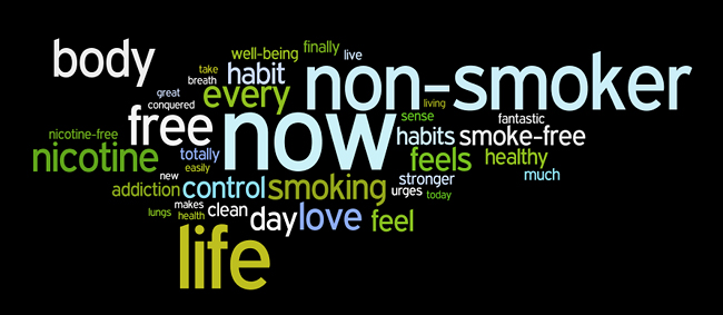 quit smoking or smoke-free affirmations wordle