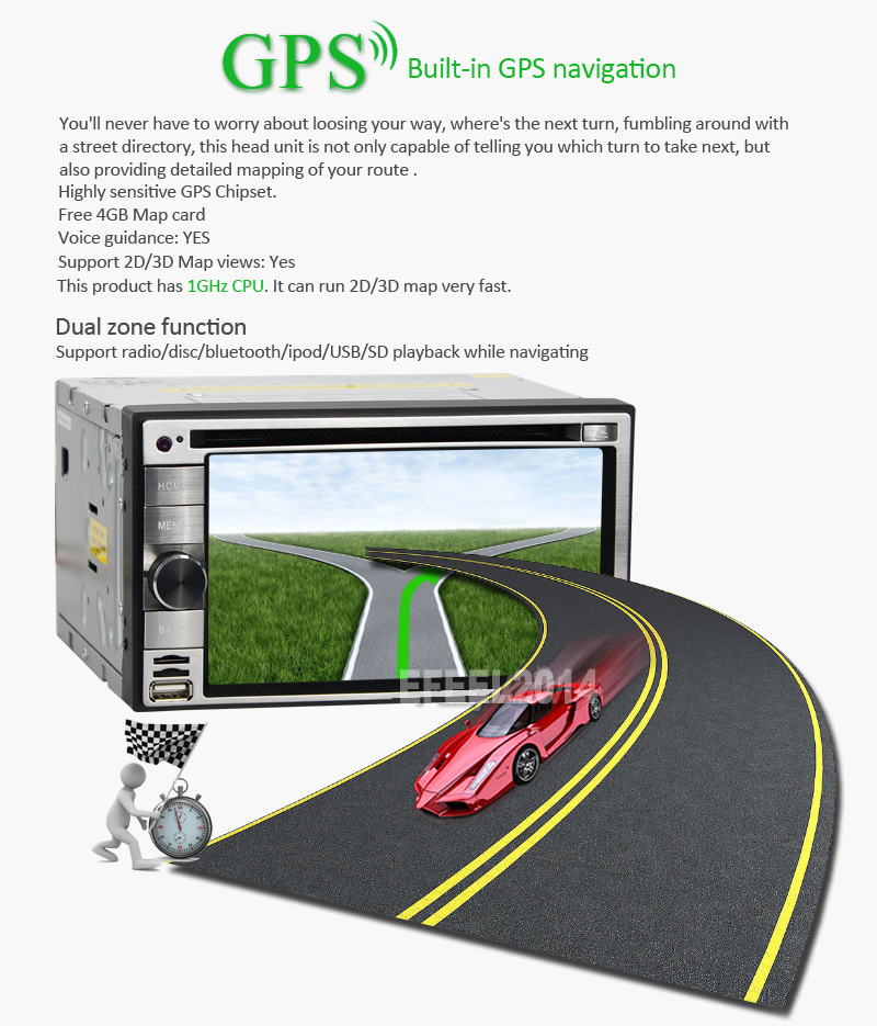 "Details about Android 4.1 6.2"" Double 2Din 3G-Wifi Car GPS DVD Player"