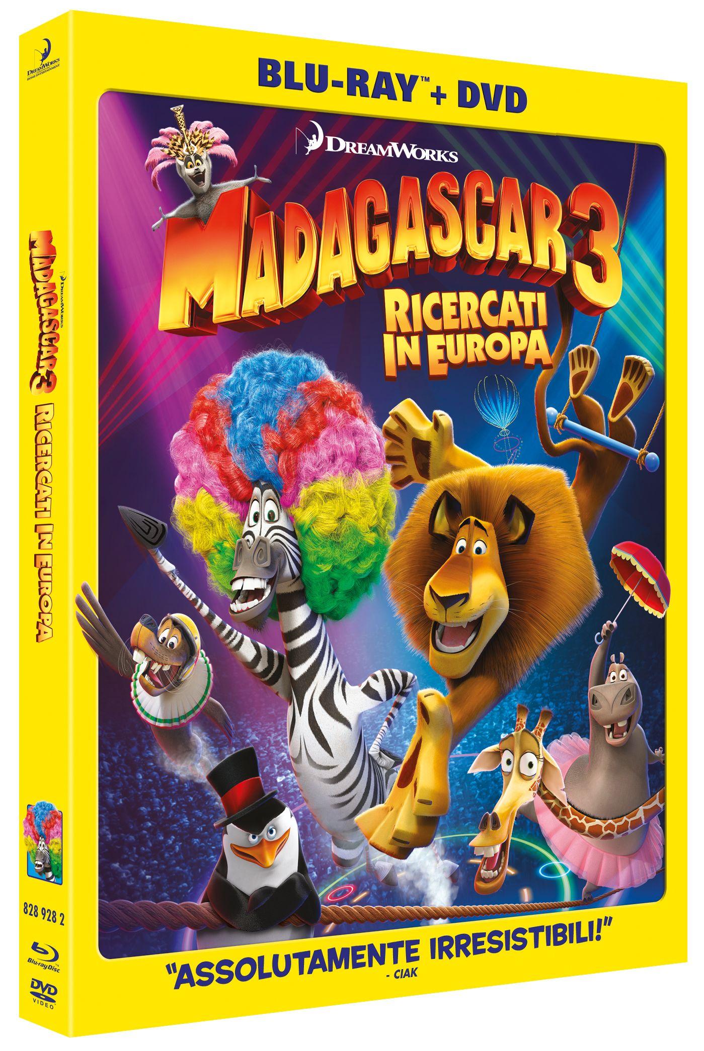 Madagascar 3 ricercati in europa blu-ray dvd