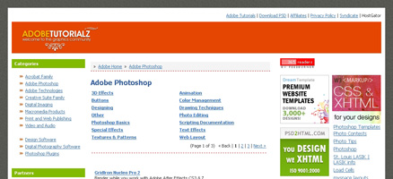 PhotoShopのTipsが充実しているサイト