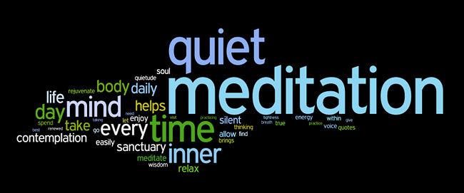meditation affirmations wordle