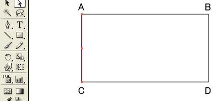 AC間をコピー、BD間をコピー