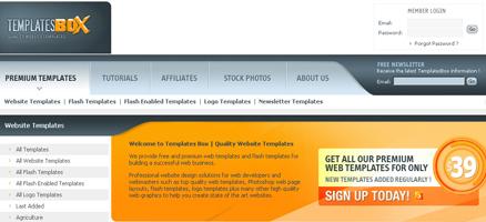 webテンプレートやロゴテンプレートなど申し分ないサイト