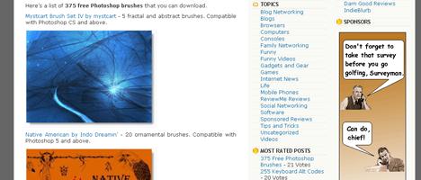 375ものPhotoshopブラシが無料で手に入るサイト