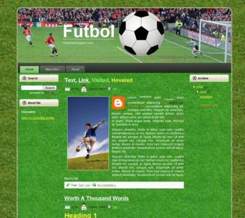Plantilla de Futbol para BLogger