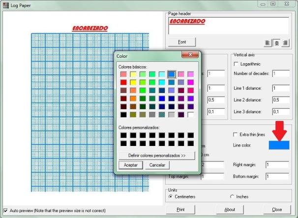 Hoja semilogaritmica y milimetrada para imprimir - Taringa!