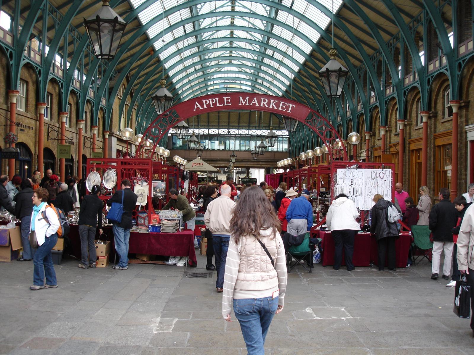 Puesto en el mercado de Covent Garden