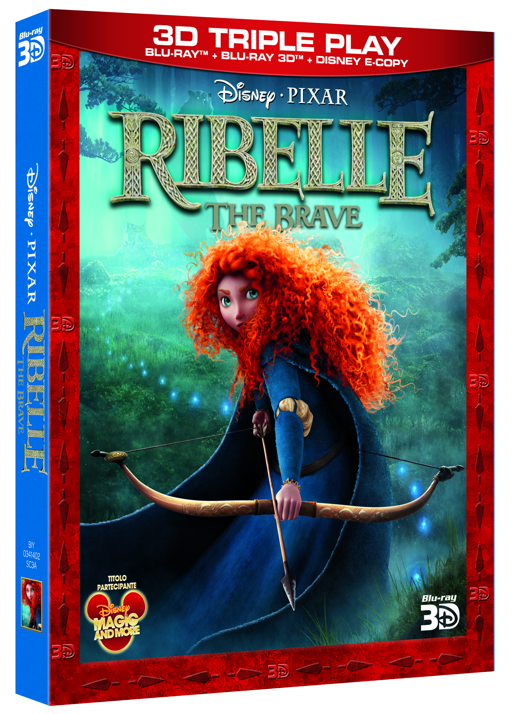 Ribelle the brave blu-ray 3d