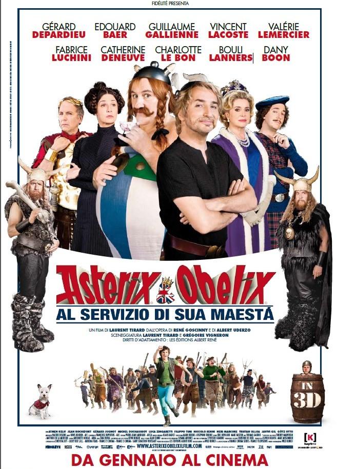 Asterix e obelix al servizio di sua maestà locandina