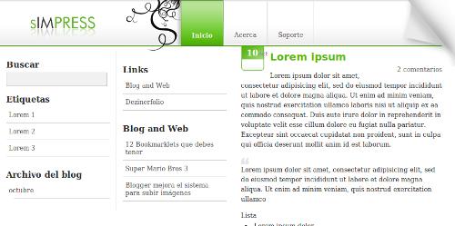 Plantilla Simpress gratis para Blogger