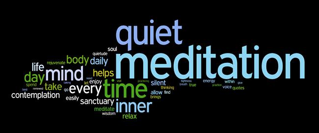 meditation affirmations wordle