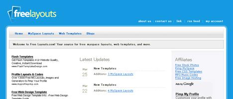超クールなWebテンプレートを無料で配布しているサイト