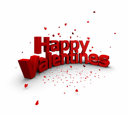 three photos are commonly used Valentine typographical design.