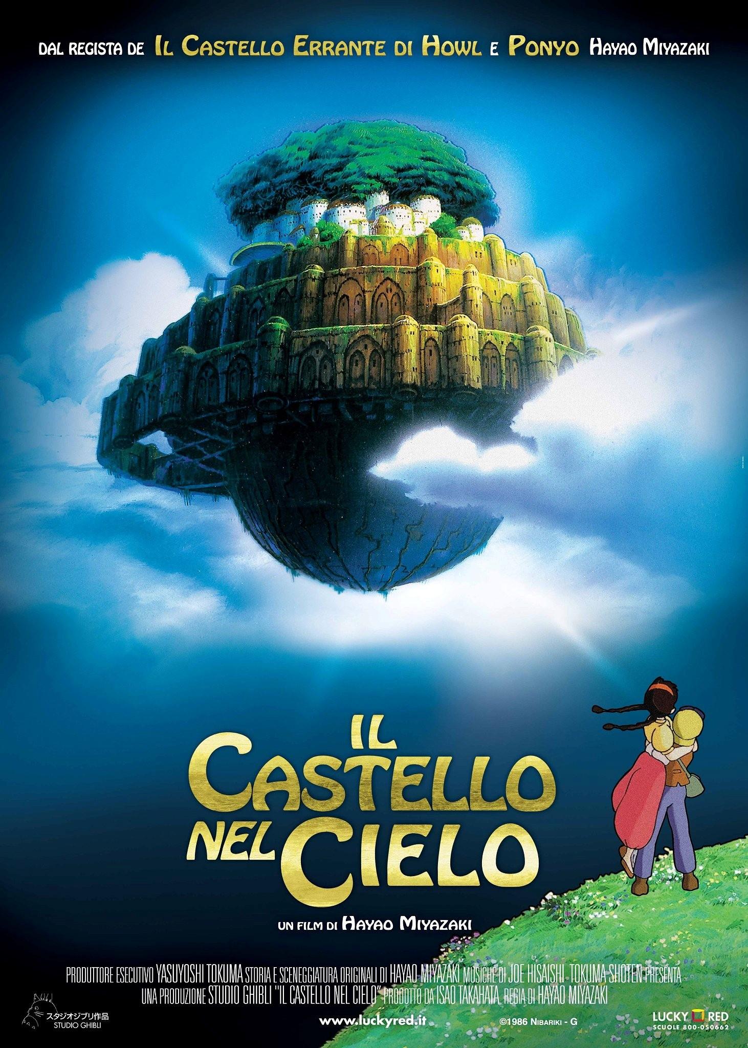 Castello nel cielo laputa locandina miyazaki