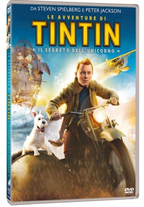 Avventure di tintin segreto dell'unicordo dvd cover