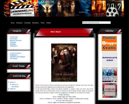 Plantilla para Blogger Cyber Filmes