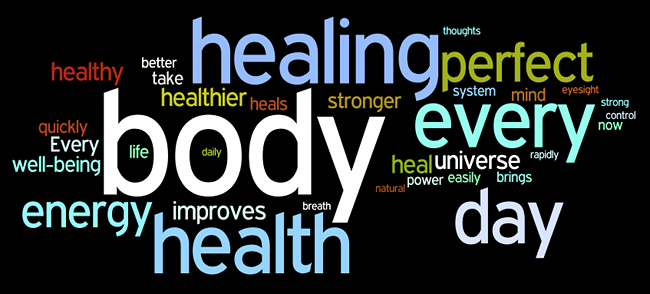 healing affirmations wordle