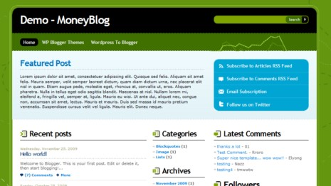Plantilla Money Blog para Blogger