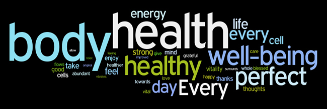 health and well-being affirmations wordle