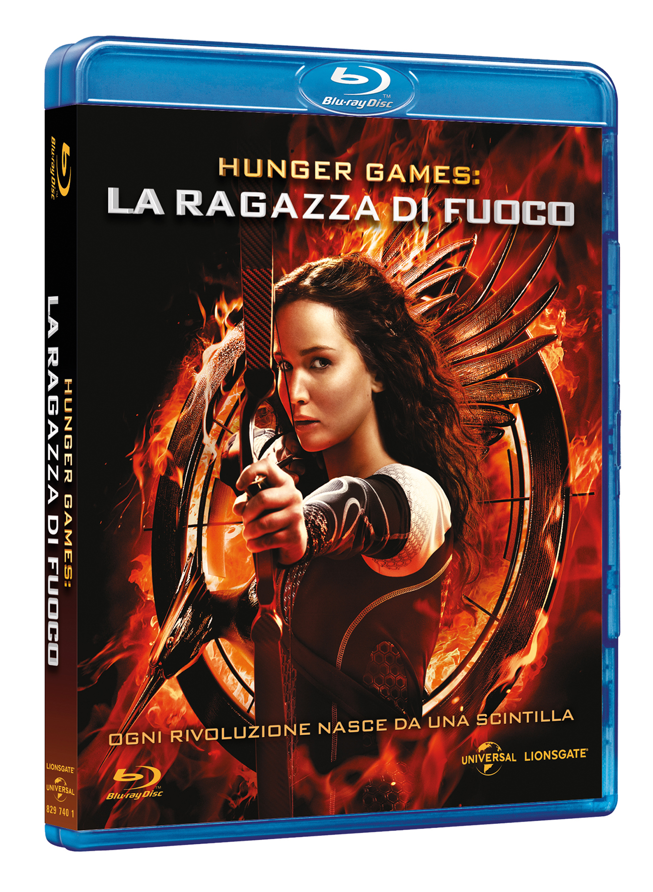 HUnger games la ragazza di fuoco blu-ray cover