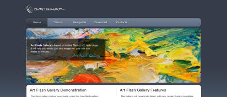 Flashで作る写真ギャラリーのFlashファイルを無料ダウンロード