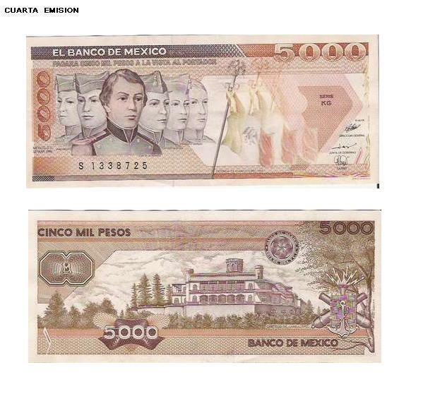 Todos los hermosos billetes de Mexico