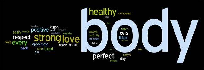 healthy body affirmations wordle