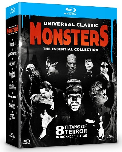 Universal classic monster essential blu-ray