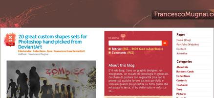 カスタムシェイプの大量配布サイト