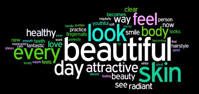 beauty affirmations wordle