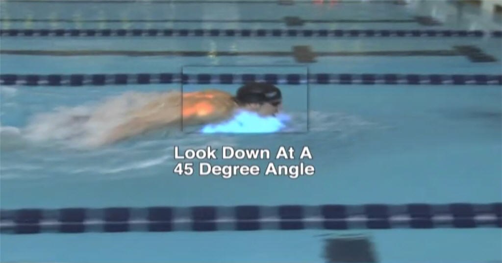 Michael Phelps - Butterfly breathing at a 45 degree angle