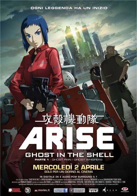 ghos tin the shell arise recensione
