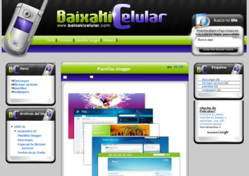 Plantilla BaixakiCelular Para Blogger