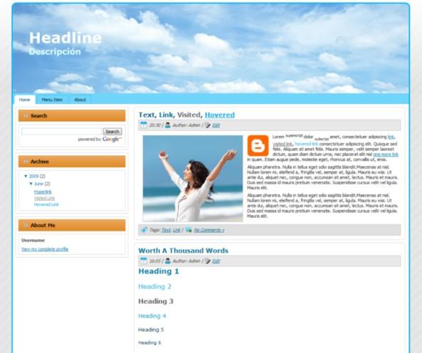 Descargar plantilla NaCel Gratis para Blogger