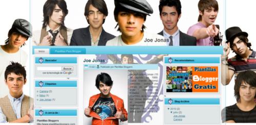 Plantilla Joe Jonas para Blogger